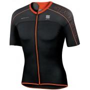 Sportful Bodyfit Ultralight Jersey Men black/fire red XXL Bike Trikots