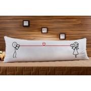 Almofada ou Travesseiro para Corpo Especial para o Dia dos Namorados - Telefone com Fio