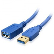 Cable Matters SuperSpeed USB 3.0 Type A Male to Female Extension Cable in Blue 3 Feet