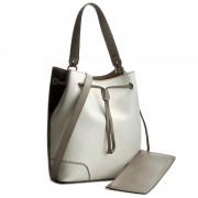 Дамска чанта FURLA - Stacy 851654 B BJQ2 FLC Petalo/Onyx 023