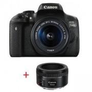 Огледално-рефлексен фотоапарат Canon EOS 750D + EF-S 18-55 IS STM + EF 50mm f/1.8 STM, AC0592C077AA