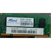 ASint 1Gb 667Mhz PC2-5300 200pin DDR2 SODIMM laptop memory RAM Hynix chipset