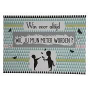 Kraskaart Meter Nordic Silouette - Wil je mijn Meter worden?