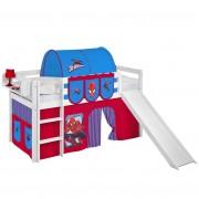 Speelbed JELLE Spiderman - wit - met glijbaan en gordijn, Lilokids