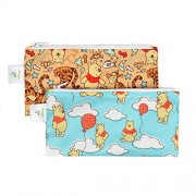 Bumkins Disney Baby Reusable Snack Bag Small 2 Pack, Winnie The Pooh Bear (Woods/Balloon)
