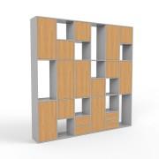 Wohnwand Grau, MDF, 232 cm x 232 cm x 34 cm