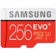 Card de memorie Samsung EVO Plus 256GB, microSDXC + Adaptor SD