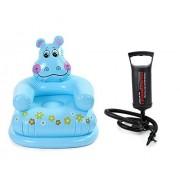 Skywalk Intex Animal Chair with Intex High Output Air Balloon Pump (Hippo Design)