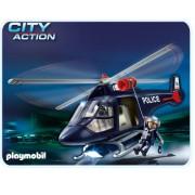 Elicopter de politie cu lumini, PLAYMOBIL Police