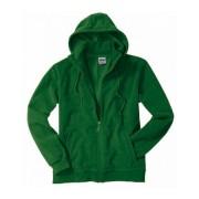 Pánská fleecová bunda s kapucí James & Nicholson Micro Fleece Hooded Jacket