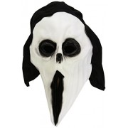 Maschera Scream con cappuccio lattice mostro Halloween
