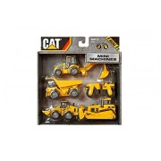 Cat Caterpillar Construction Mini Machine Dump Track Steamroller 5-Pack #34601
