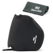 MegaGear ''Ultra Light'' Neoprene Camera Case Bag with Carabiner for Canon PowerShot SX540 HS SX530 HS Canon PowerShot SX420 IS SX410 IS Digital Cameras (Black)