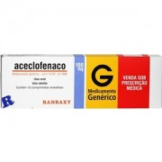 Aceclofenaco 100mg Genérico Ranbaxy Com 12 Comprimidos Revestidos