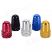 Valvula del neumatico de la bicicleta de aleacion de aluminio de bicicletas Caps Set - Multicolor (5PCS)