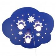 energie A+, Plafondlamp Ster wolk 3/20 - hout 3 lichtbronnen, Elobra