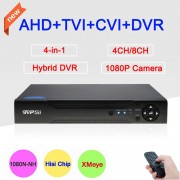 1080P,960P,720P,960H Surveillance Camera 4CH/8CH XMeye APP Coaxial Hybrid Coaxial 4 in 1 TVI CVI AHD CCTV DVR Free Shipping