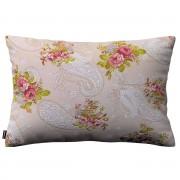 Dekoria Poszewka Kinga na poduszkę prostokątną, róże na jasno beżowym tle, 60 x 40 cm, Flowers