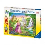 Puzzle Printesa si cal, 200 piese, RAVENSBURGER Puzzle Copii