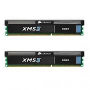 Corsair CMX8GX3M2A1600C9 XMS3 Kit di Memoria da 8 GB (2x4 GB), DDR3, 1600 MHz, CL9, Nero