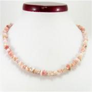 Pink- rózsa opál splitter szemcse nyaklánc