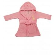 Preemie - Halat de baie giraffe roz pentru copii