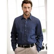 Walbusch Jeanshemd Comfort Fit Blau 45/46