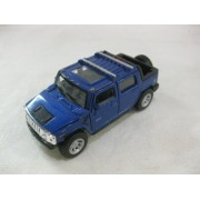 2005 Hummer H2 SUT In Blue Diecast 1:40 Scale By Kinsmart