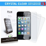4S Screen Protector **[ PACK OF 3 PIECES ]**, E LV Apple iPhone 4/4S CRYSTAL CLEAR HD optical perspective, Scratch processing Screen Guard for Apple iPhone 4/4S.