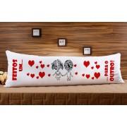 Almofada ou Travesseiro para Corpo Especial para o Dia dos Namorados - Feitos um para o Outro