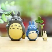 Totoro With Leaf Mini Figure Toy Studio Ghibli Miyazaki Hayao My Neighbor Totoro PVC Action Figures Collection Model Kids Toys