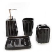 Set pentru baie ceramica negru