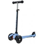 Самокат-кикборд Novatrack Disco-kids, колеса 120мм, черно-голубой