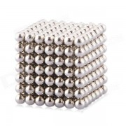 Magnetic Balls Beads Sphere Cube Puzzle Neocube Intelligence Toy 3mm Diameter 343 Pieces - Sliver