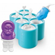 ZOKU Icelolly Pop Maker Polar - Set van 6