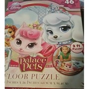 Floor Puzzle Palace Pets Disney for Kids to Play Games and Solve Problems Piece By Piece with 3 Foot Puzzle Comes with F