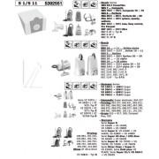 Porszívó alkatrész, S1/S6 PAPÍR PORZSÁK BBZ80AF 457284 helyett SIEMENS/BOSCH ew01700