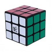 Dayan Cube velocidade lisa 333 Velocidade Cubos Mágicos Preta ABS