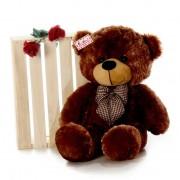 2.5 Feet Brown Big Teddy Bear with a Bow