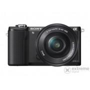 Kit aparat foto digital Sony Alpha 5000 (cu obiectiv de 16-50mm), negru