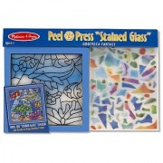 Melissa & Doug Peel and Press Stained Glass Sticker Set: Undersea Fantasy - 100+ Stickers Frame