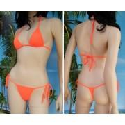 Bikini Satinka reggiseno a triangolo e tanga slip lacci