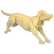 Blue Lotus Dog Woodcraft 3D Puzzle