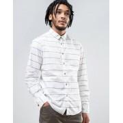 Esprit Cotton Shirt with Stripe Detail - 110 white (Sizes: XL, M, L, S, 2XL)