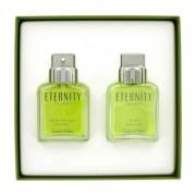 Calvin Klein Eternity 3.4 oz / 100.55 mL Eau De Toilette Spray + 3.4 oz / 100.55 mL After Shave Gift Set Men's Fragrance 422003