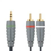 Bandridge BAL3405 Câble Audio Stéréo 3.5mm Mâle 2 x RCA Mâle 5 m