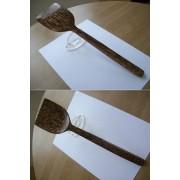 Stunning Coco Wood Scooped spatula,Premium kitchen Utensil