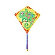 Invento 100123 Eddy Camille, from 5 years old, 68 x 68 cm And 2 m Line Children's Kite Dragon Kite Tail Chameleon Ripstop Polyester 2-5 Beaufort
