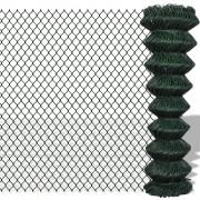 vidaXL Pozinkované a poplastované pletivo - 1,5 m x 15 zelené