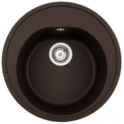 Chiuveta rotunda Teka Centroval 45 TG, Chocolate Brown , tegranit, 51 cm diametru